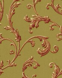 Sylvia Rust Ornate Scroll Wallpaper by  Brewster Wallcovering