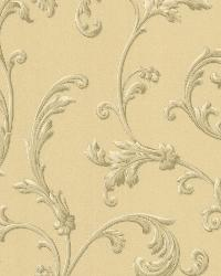 Sylvia Sand Ornate Scroll Wallpaper by  Brewster Wallcovering