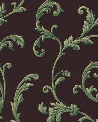 Sylvia Black Ornate Scroll Wallpaper by  Brewster Wallcovering