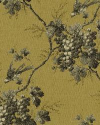 Napa Valley Black Grape Toile Wallpaper by