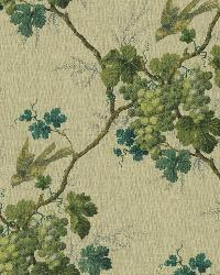 Napa Valley Sage Grape Toile Wallpaper by  Brewster Wallcovering