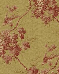 Napa Valley Rust Grape Toile Wallpaper by  Brewster Wallcovering