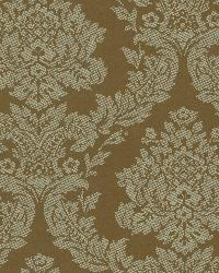 Rice Sage Meridian Damask Wallpaper by