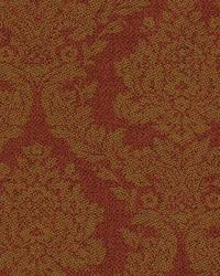 Rice Rust Meridian Damask Wallpaper by