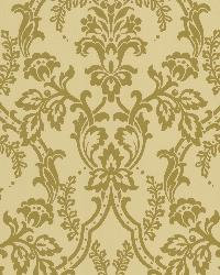 Andrea Gold Ornate Ogee Wallpaper by  Brewster Wallcovering