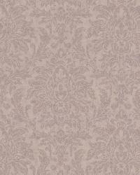 Morgan Purple Busy Damask Wallpaper by  Brewster Wallcovering