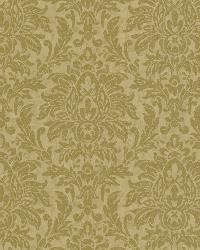 Morgan Olive Busy Damask Wallpaper by  Brewster Wallcovering