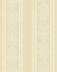 Arabelle Grey Damask Stripe Wallpaper by