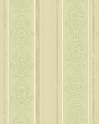 Arabelle Green Damask Stripe Wallpaper by