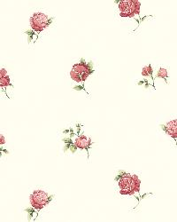 Sandra Red Floral Toss Wallpaper by