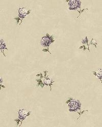 Sandra Grey Floral Toss Wallpaper by