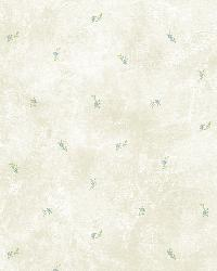 Lafayette Blue Floral Toss Wallpaper by