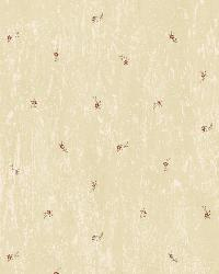 Lafayette Wheat Floral Toss Wallpaper by