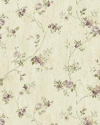 Virginia Grey Floral Vine Wallpaper by