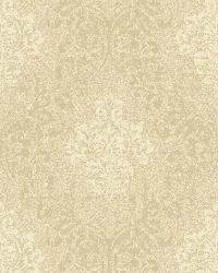 Golden Wheat Damask Wallpaper by