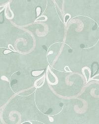 Jada Silver Girly Floral Scroll Wallpaper by