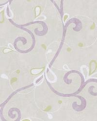 Jada Lilac Girly Floral Scroll Wallpaper by