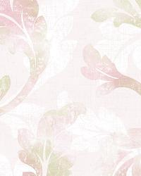 Natalia Purple Curly Scroll Wallpaper by