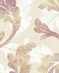 Natalia Taupe Floral Scroll Wallpaper by