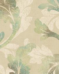 Natalia Moss Floral Scroll Wallpaper by