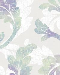 Natalia Iris Floral Scroll Wallpaper by