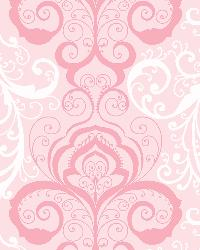 Vanessa Pink Henna Brocade Wallpaper by