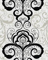 Vanessa Black Henna Brocade Wallpaper by