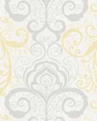 Vanessa Peach Henna Brocade Wallpaper by
