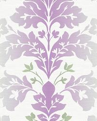 Camila Lilac Modern Damask Wallpaper by