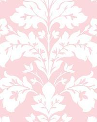 Camila Pink Modern Damask Wallpaper by