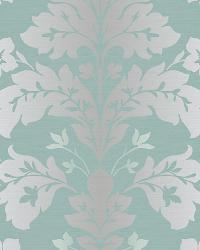 Camila Silver Modern Damask Wallpaper by