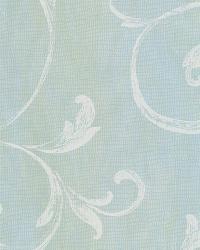 Gibby Aqua Leafy Scroll Wallpaper by