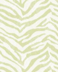Mia Green Faux Zebra Stripes Wallpaper by