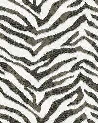 Mia Black Faux Zebra Stripes Wallpaper by