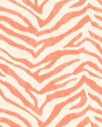 Mia Orange Faux Zebra Stripes Wallpaper by