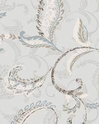 Riley Blue Paisley Scroll Wallpaper by