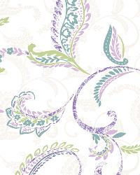 Riley Lilac Paisley Scroll Wallpaper by