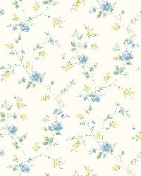 White Spring Bloom Trail by  Brewster Wallcovering