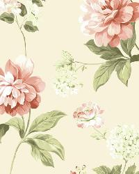 Neutrals Peony by  Brewster Wallcovering