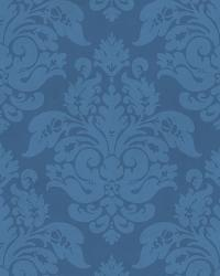 Ocean Peony Damask by  Brewster Wallcovering