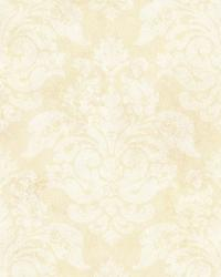 Cream Peony Damask by  Brewster Wallcovering