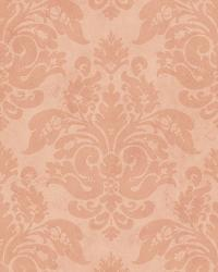 Orange Peony Damask by