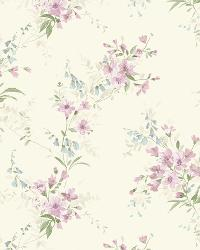 Off-White Buttercup Trail by  Brewster Wallcovering