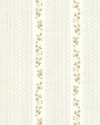 White GardenerS Stripe by  Brewster Wallcovering