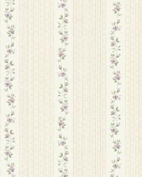 Neutral GardenerS Stripe by  Brewster Wallcovering