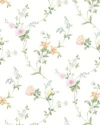 White Tiger Lily Trail by  Brewster Wallcovering