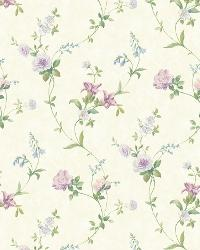 Wheat Tiger Lily Trail by  Brewster Wallcovering