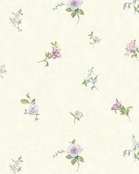 Beige Tiger Lily Toss by  Brewster Wallcovering