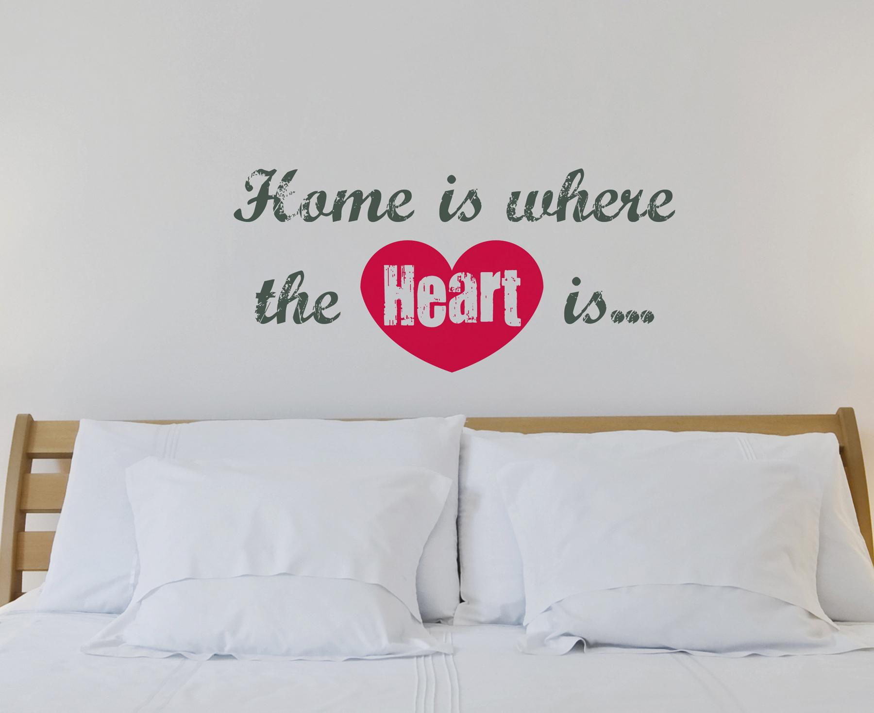 Home Is Where The Heart Is Wall Quote Brewster Wallcovering