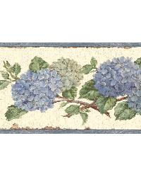 Blue Hydrangea Border by